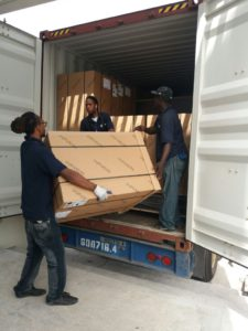 Saint Martin Movers loading removals truck